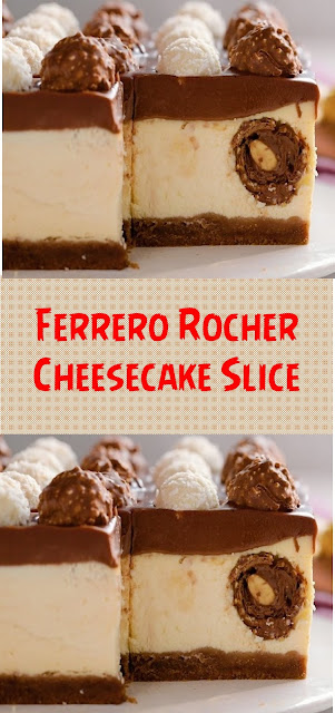 Ferrero Rocher Cheesecake Slice