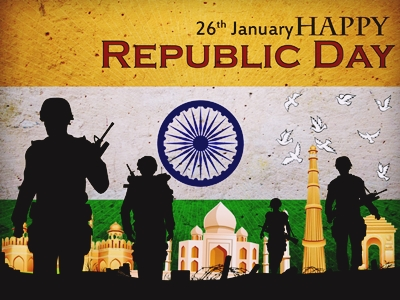 Happy Republic Day Quotes with Wallpapers in English