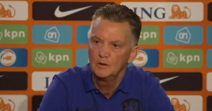 Van Gaal slams reporter who questioned his tactics