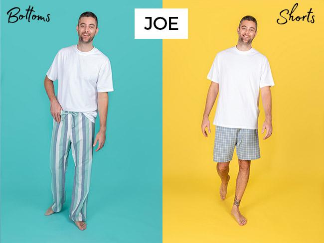 Joe pyjama bottoms and shorts digital sewing pattern