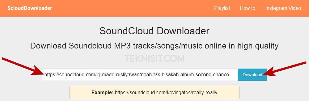 Cara download lagu di SoundCloud