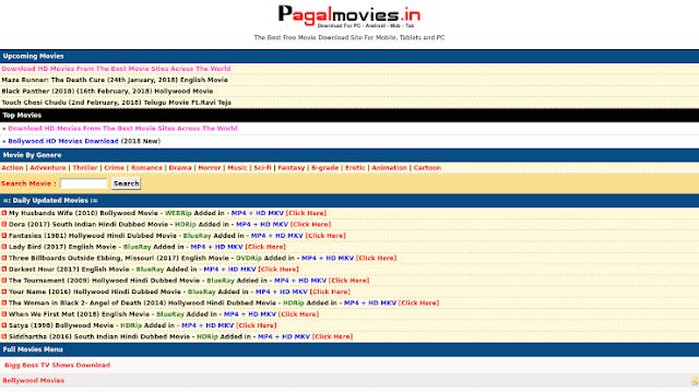 pagalmovies.fun Hollywood Dubbed in Hindi, Bollywood Movies Download & New Domain Link