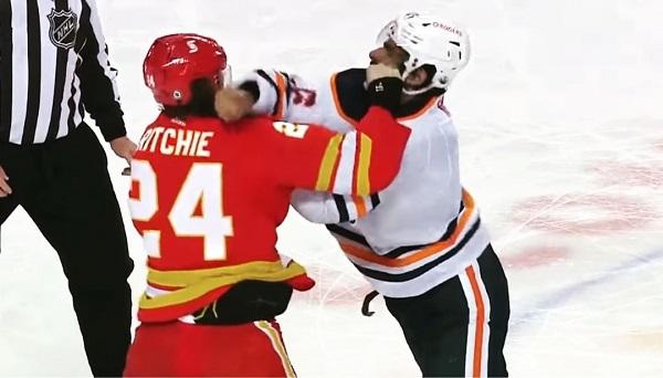 Brett Ritchie Jujhar Khaira NHL Hockey Fight KO