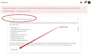 Cara memeriksa situs mana yang memiliki file ads.txt yang salah
