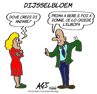 Dijsselbloem, europa, pareggio di bilancio, economia, vignetta, satira