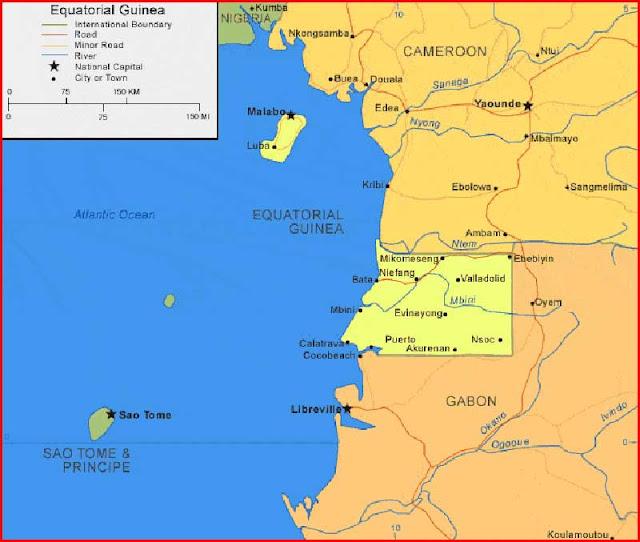 Gambar Peta Guinea Khatulistiwa