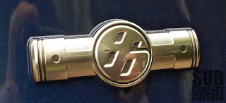 Scion FR-S boxer engine badge.