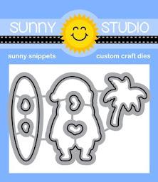 Sunny Studio Stamps Surfing Santa Metal Cutting Dies Set
