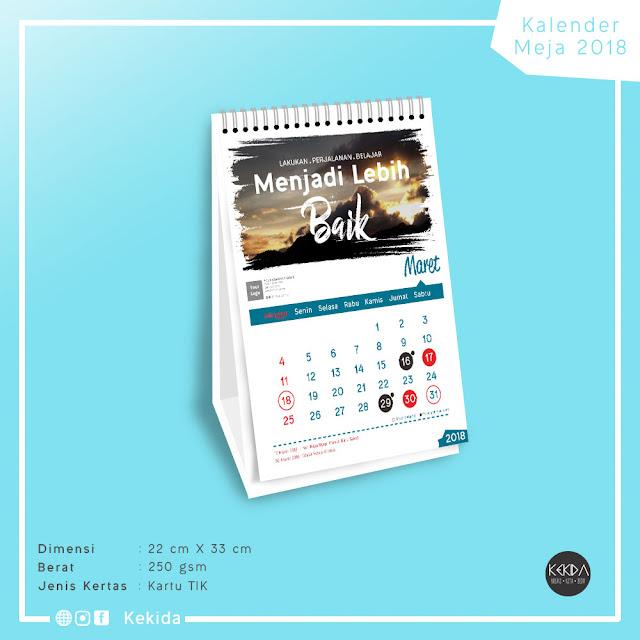 Cetak Kalender Tahun 2018 Untuk Perusahaan