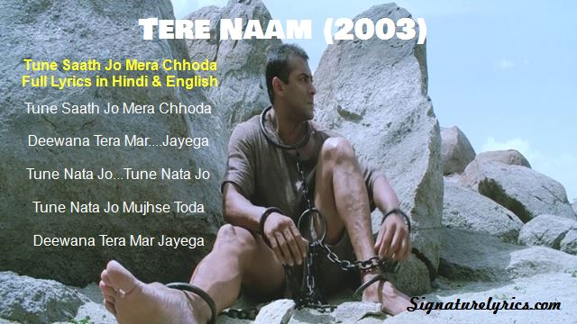 Tune Saath Jo Mera Chhoda Lyrics - Udit Narayan   Raghav   TERE NAAM