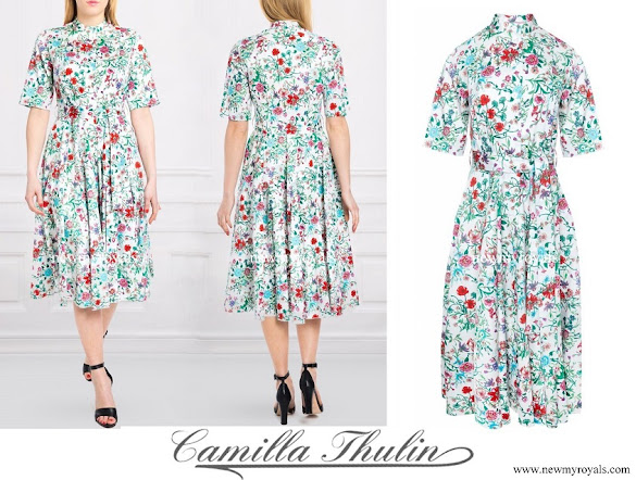 Crown Princess Victoria wore Camilla Thulin ravenna floris dress
