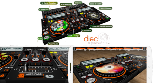 DiscDj 3D Music Player - THE HUB OF TECHNOLOGY