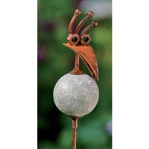 Berühmt Gartendeko: Gartenstab Vogel Gartendeko Rost-Optik 98cm &LE_43