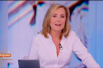 Barbara Palombelli oggi stasera Italia