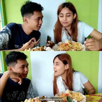 Pasangan Youtuber asal Tulungagung Rico dan wanita India Sheevi. Foto: Dok. Tangkap layar akun Youtube Rico Prandana.