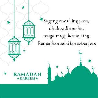 kata ucapan ramadhan bahasa jawa