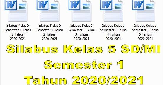Silabus Kelas 5 SD/MI Semester 1 Tahun 2020/2021 - Guru ...