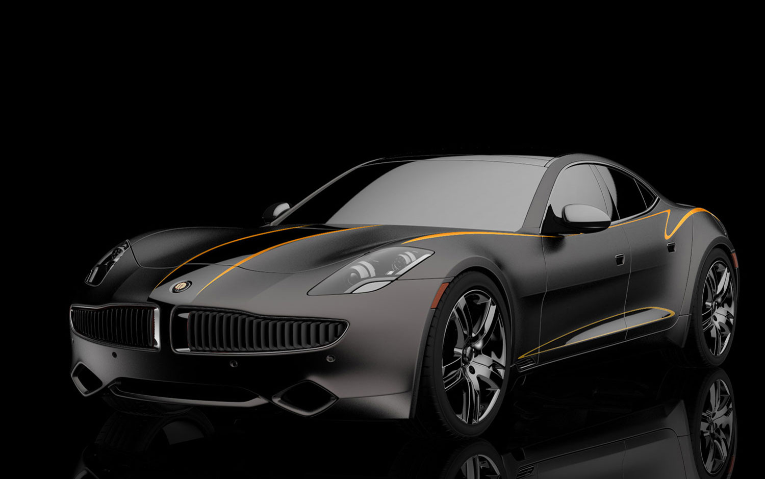 karma fisker concept cars sema front three matte onward quarter