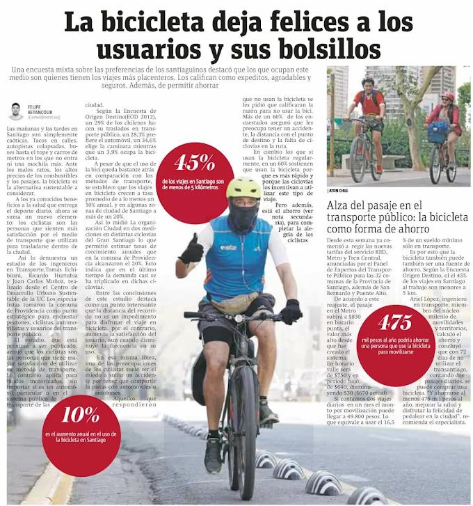 La bicicleta deja felices a los usuarios y sus bolsillos