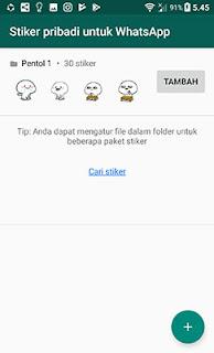 Menambahkan stiker pribadi whatsApp