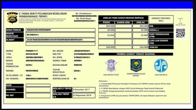 surat e-tbpkp bukti pembayaran