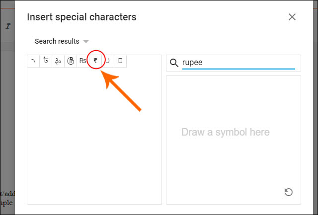 how-to-add-rupee-symbol-in-blogger
