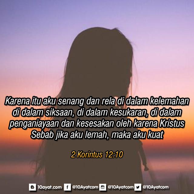 2 Korintus 12 :10