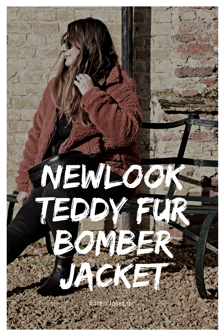 Newlook teddy fur bomber jacket