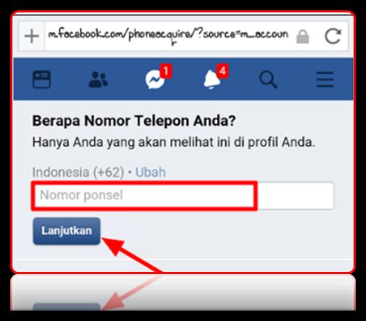 cara ganti nomor telepon utama facebook