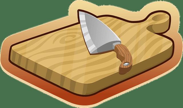 tábua de carne de madeira