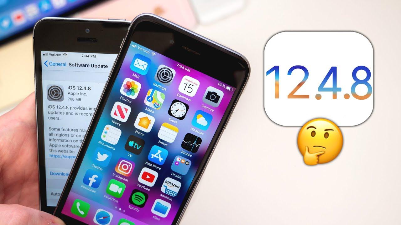 تحديث iOS 12.4.8