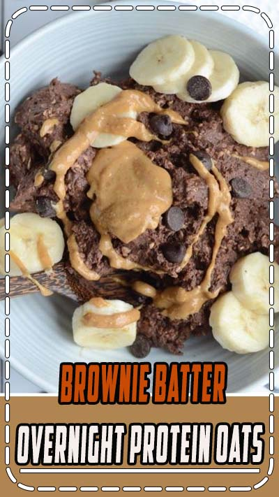These thick brownie batter overnight protein oats are like eating dessert for breakfast. Spend just a few minutes to prep the night before and in the morning, you'll be ready to dig into a bowl of brownie batter!