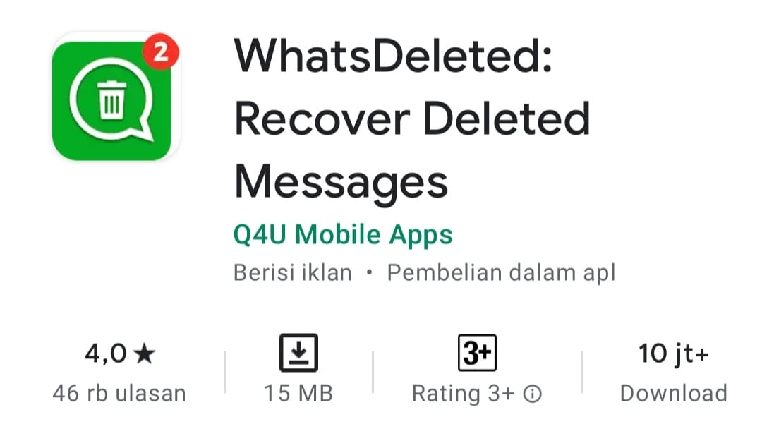 WhatsDeleted: Recover Deleted Messages
