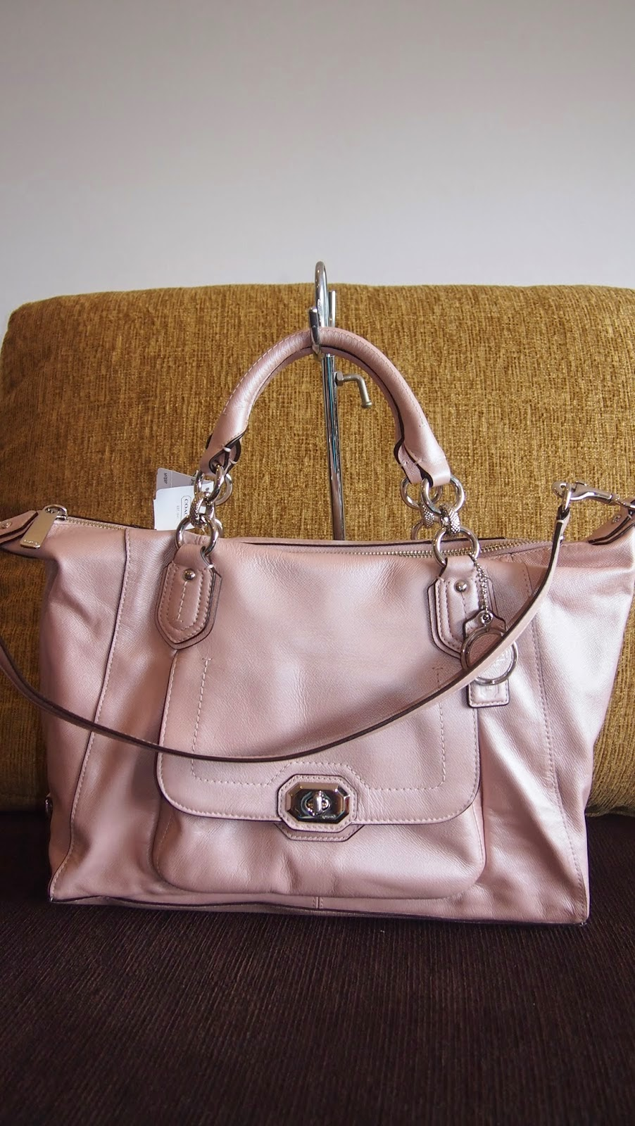 Coach Campbell Turnlock Leather Large Satchel 25508