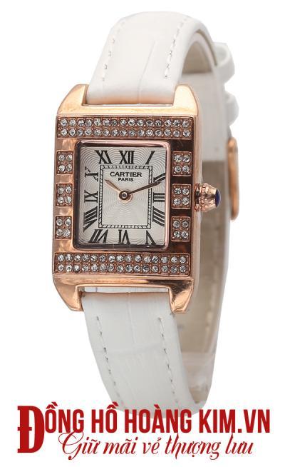 Đồng hồ nữ dây da giá rẻ mặt vuông