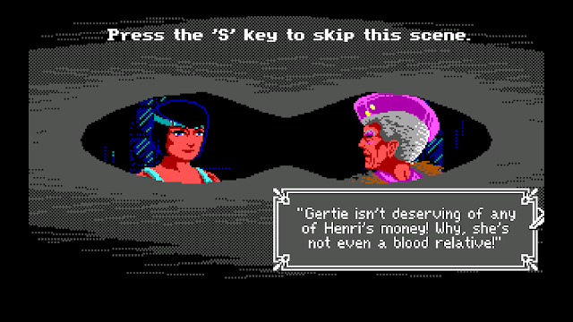 Screenshot of spying mechanic in The Colonel's Bequest