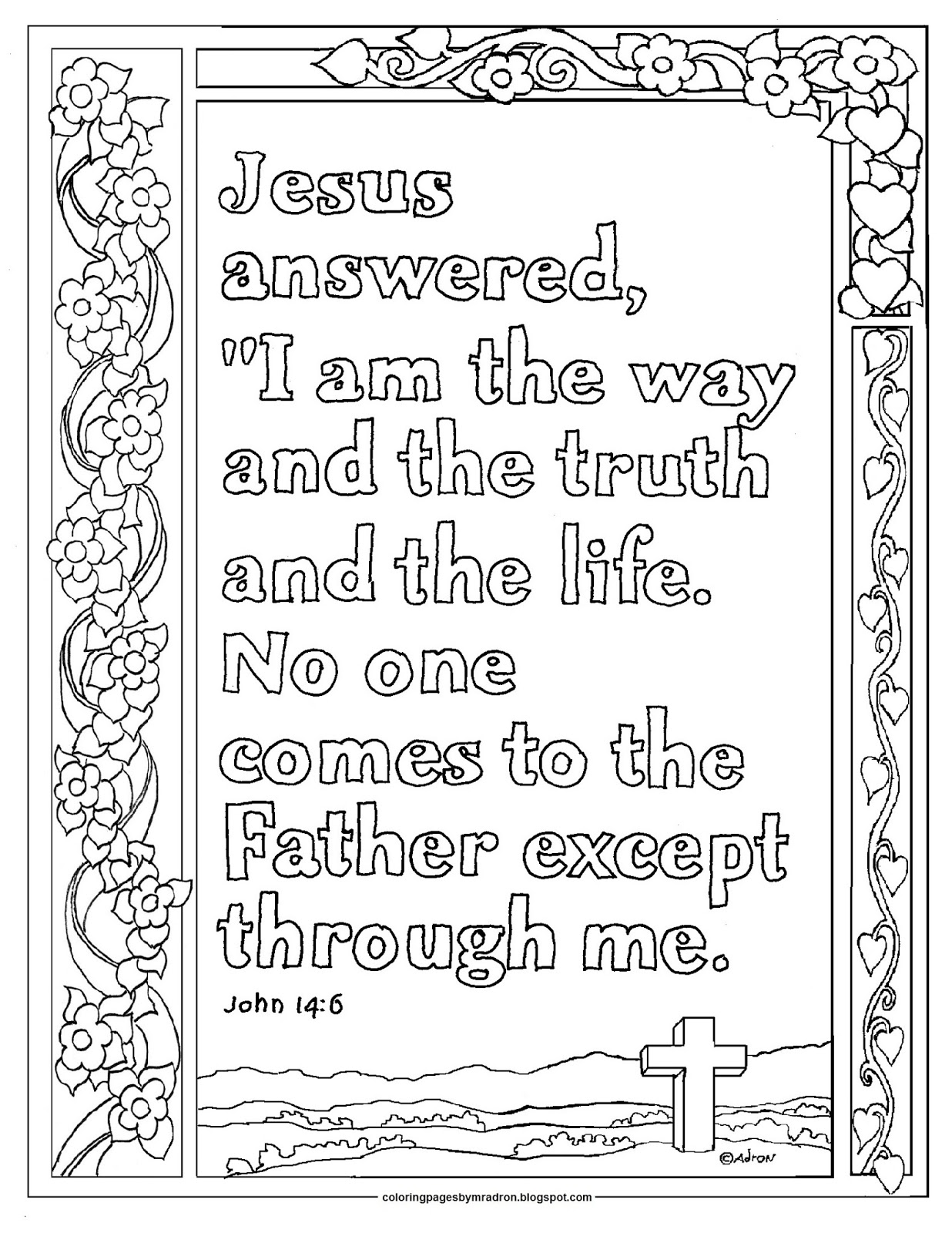 Coloring Pages for Kids by Mr. Adron: John 27:27 Print and Color