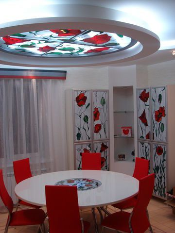 stained glass false ceiling designs for dinning room