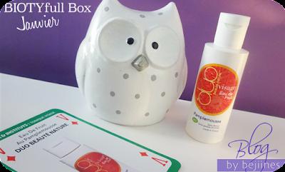 BIOTYfull Box de Janvier - beauté nature