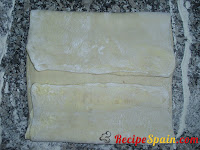 Another dough being folded