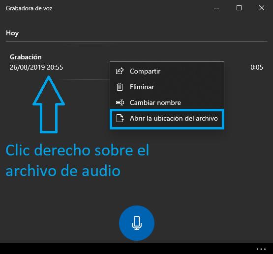 Dónde está el archivo de Grabadora de voz Windows 10 - Charkleons.com