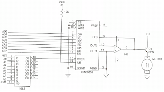 تواجه المبدل DAC0830 مع المعالج 8088/ 8086