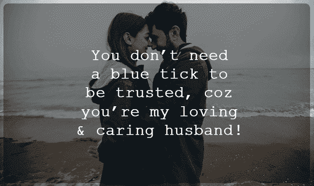 a love message to my husband