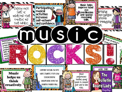 Music Rocks by The Bulletin Board Lady Tracy King