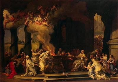 Dedica di una nuova vergine vestale (1710) di Alessandro Marchesini.
