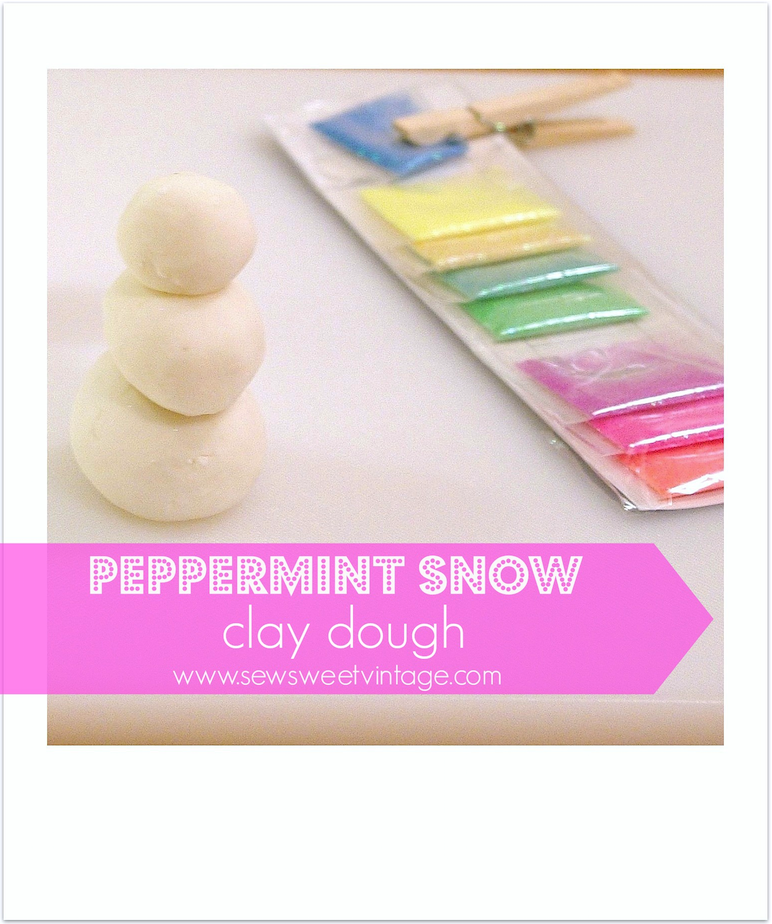 DIY  peppermint play dough