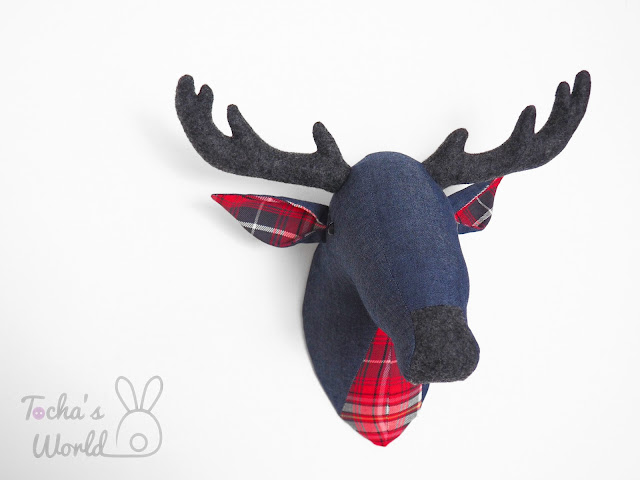 stag, deer, antlers, denim, eco felt, tartan, check, lumberjack, home decor, stag, deer, antlers, denim, eco felt, tartan, check, lumberjack, home decor,