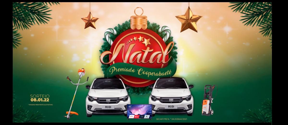Promoção Natal 2021 Premiado Cooperabaeté
