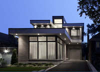 Contemporary house design in gray color