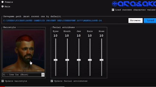 Mod que permite mudar o cabelo no Cyberpunk 2077 (Presentinho de Natal)